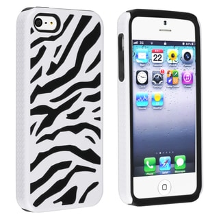 BasAcc Black/ White Zebra Hybrid Case for Apple iPhone 5