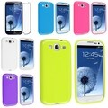 BasAcc TPU Rubber Case/ Screen Protector for Samsung Galaxy S III/ S3