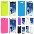 BasAcc TPU Rubber Cases/ Screen Protector for Samsung Galaxy S III/ S3