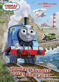 Thomas' Favorite Places and Faces Reusable Sticker Book (Paperback)
