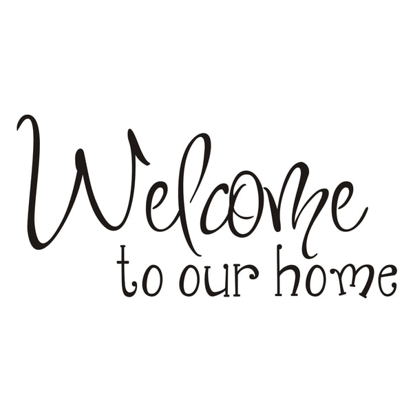 Vinyl Attraction 'Welcome to Our Home' Vinyl Wall Art
