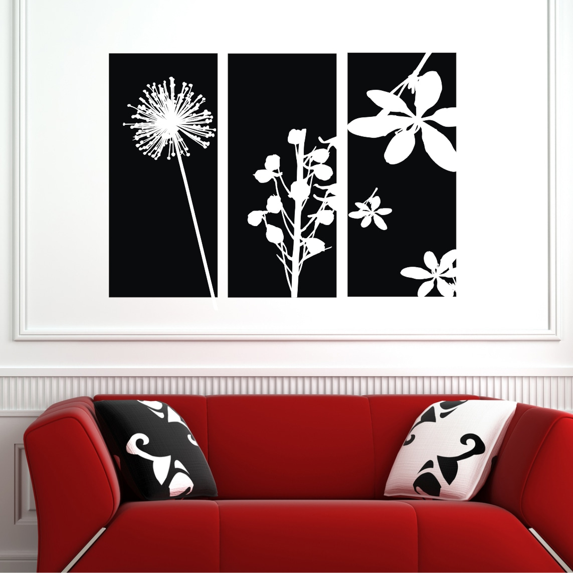 Vinyl Attraction 'Flower Wall Panels' Vinyl Wall Art at Sears.com