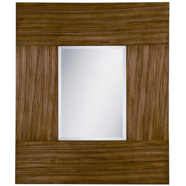 Rollins Blonde Zebra Wood Mirror