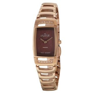 Skagen Women's 'Swiss' Rose Goldplated Stainless Steel Diamond Watch