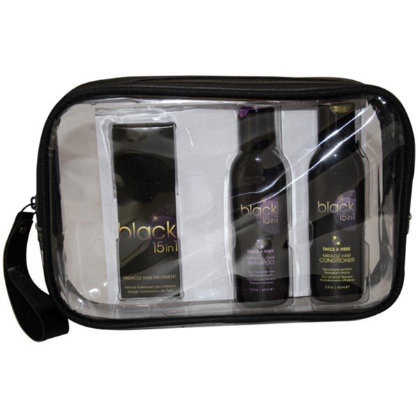 Black 15 in 1 Signature Hair Care Travel Kit