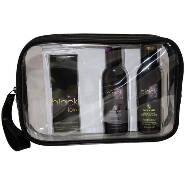 Black 15 in 1 Signature Hair Care Travel Kit