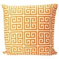 Orange Greek Key Pillow