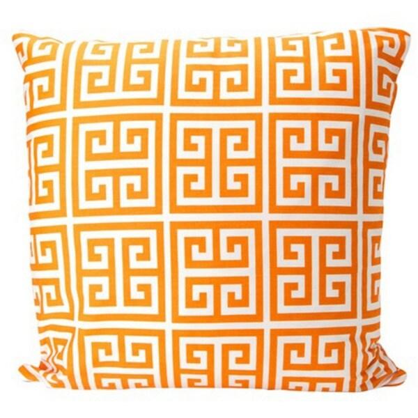 Orange Greek Key Pillow