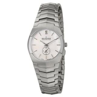 Skagen Women's White-Dial Stainless-Steel White Diamond Watch