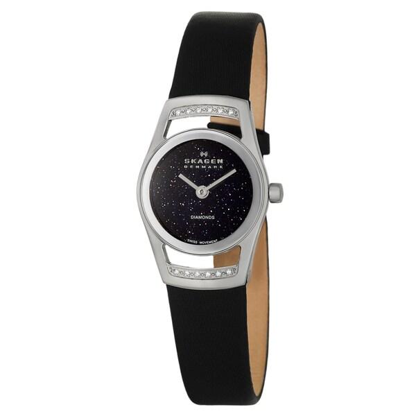 Skagen Women's 982SSLBN Stainless Steel White Diamond Watch