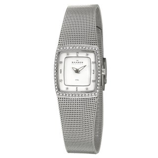 Skagen Women's Stainless Steel Mesh Crystal Watch