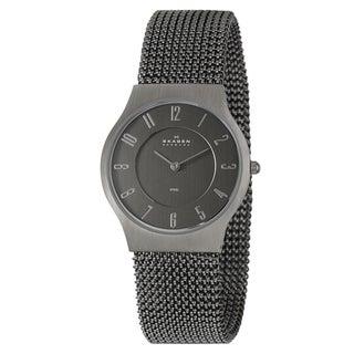 Skagen Men's Stainless Steel Mesh Quartz Watch