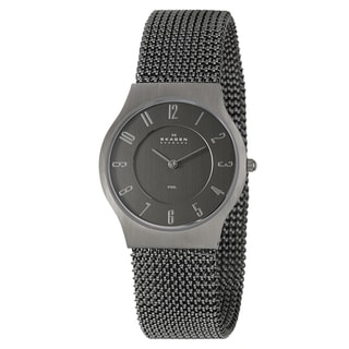 Skagen Men's 'Mesh' Black Stainless Steel Quartz Watch