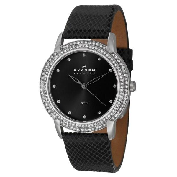Skagen Women's Stainless Steel Glitz Crystal Watch