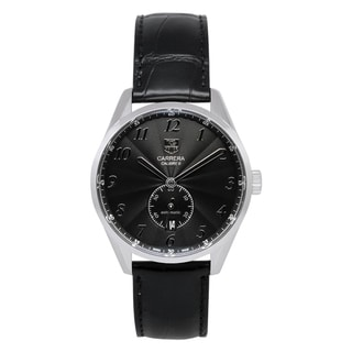 Tag Heuer Men's Carrera Black Leather/ Steel Watch