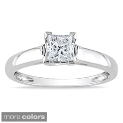 Miadora 14k Gold 3/4ct TDW Certified Diamond Solitaire Ring (G-H, I1-I2)
