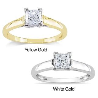 Miadora Signature Collection  Miadora 14k Gold 3/4ct TDW Certified Diamond Solitaire Ring (G-H, I1-I2)