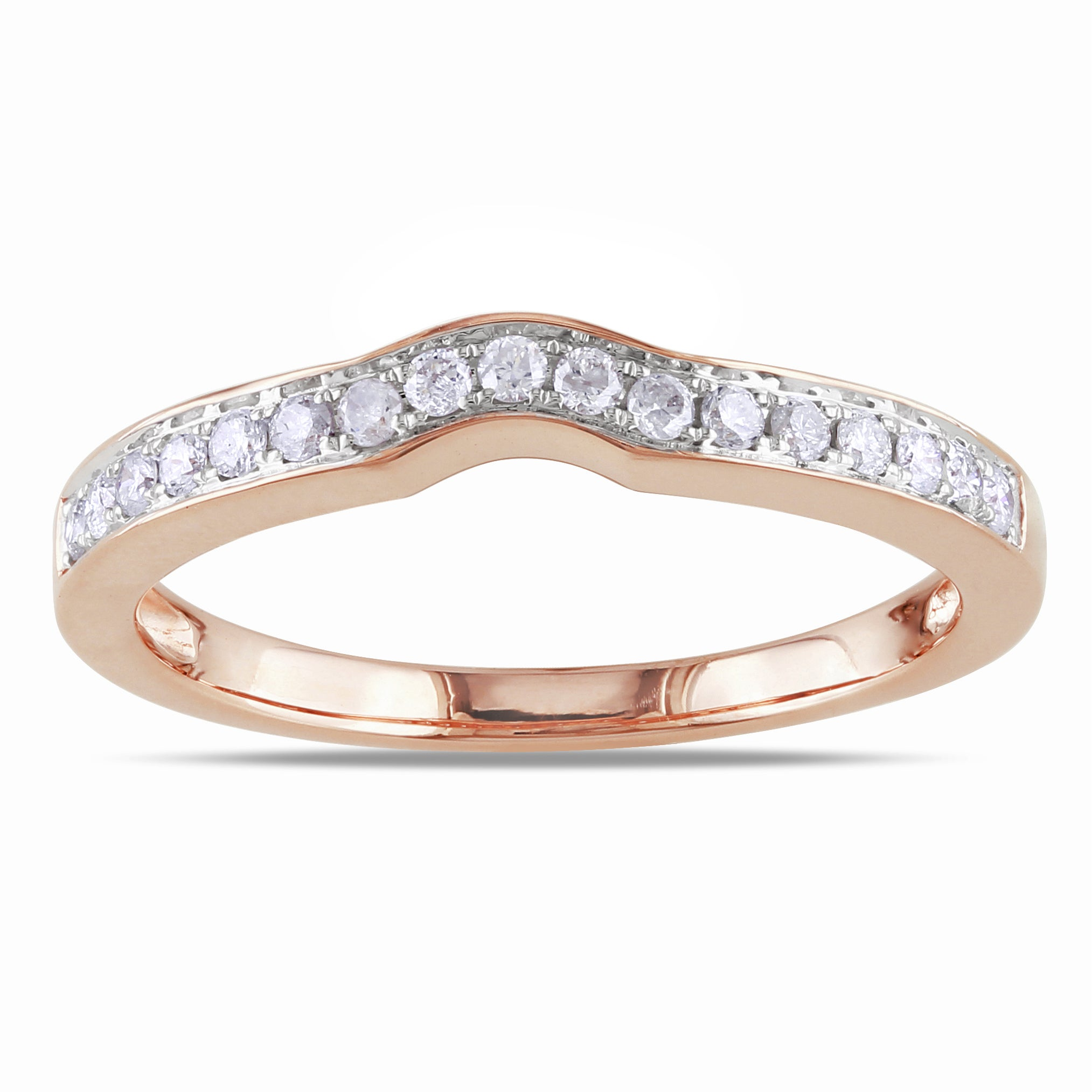 Miadora 14k Rose Gold 1/4ct TDW Diamond Wedding Band (G-H, I1-I2) at Sears.com