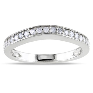 Miadora 14k Gold 1/3ct TDW Diamond Wedding Band (G-H, I1-I2)