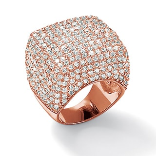 Isabella Collection 14k Gold 6 3/4ct TGW Cubic Zirconia Pave Dome Ring