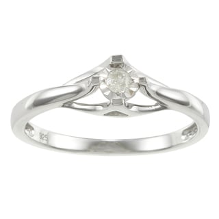 Sterling Silver Diamond Accent Promise Ring