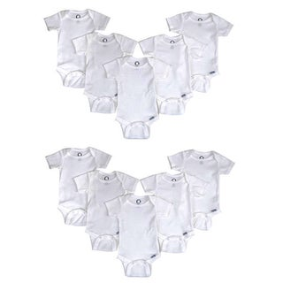 Gerber White Cotton Onesies (Pack of 10)