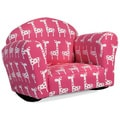 Christopher Knight Home Valentine Pink and White Rocking Kids Club Chair