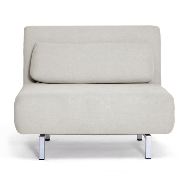 Jolene Cream Fabric Convertible Chair/ Day Bed
