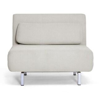 Jolene Cream Fabric Convertible Chair/ Day Bed