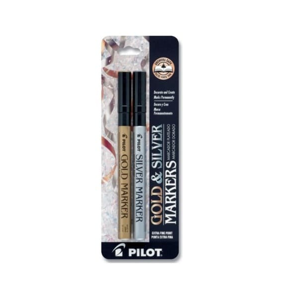 Pilot Gold and Silver Extra Fine Point Permanent Markers (Set of 2) 10192075