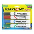 Marks-A-Lot Low Odor Chisel Tip Assorted Dry Erase Markers (Set of 4)