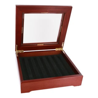 Display Case Rosewood Finish with Black Contoured Foam Insert