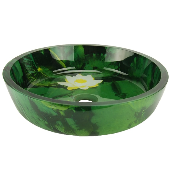 Italia Everglades Glass Vessel Sink