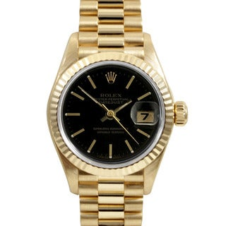 Pre-Owned Rolex Women's 18k Yellow Gold President Watch