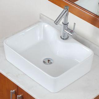 ELITE 9989 High Temperature Grade A Ceramic Bathroom Sink