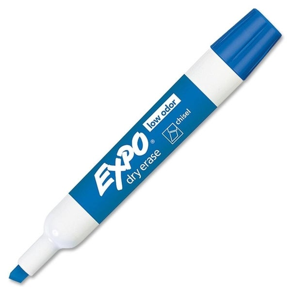 Sanford Expo Low Odor Chisel Tip Blue Dry Erase Whiteboard Markers (Set of 12)
