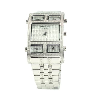 Techno by KC Men's Stainless Steel Diamond Watch