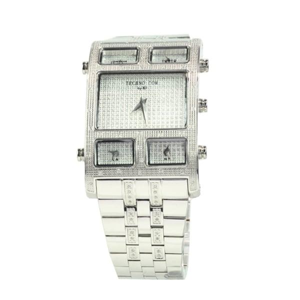 Techno by KC Men's Stainless Steel Diamond Watch