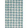 Hand-tufted Barlow Blue Wool Rug (2' x 3')