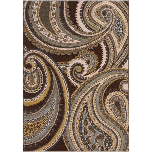 Woven Conroe Paisley Floral Rug (6'7 x 9'6)