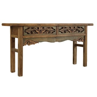 Carved Two-drawer Console