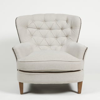 Latte Pia Tufted Lounge Chair