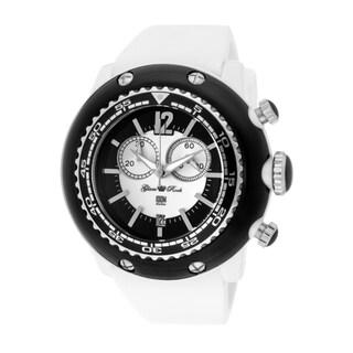Glam Rock Men's 'Miami Beach' White Silicone Watch