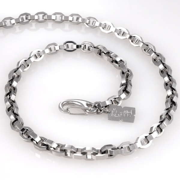 Stainless Steel Fancy Link Chain Necklace