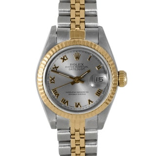 Pre-owned Rolex Women's Two-tone Datejust Watch