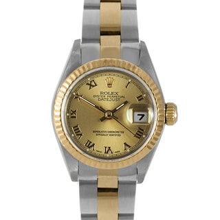 Pre-Owned Rolex Women's Two-Tone Datejust Watch with Roman Numerals