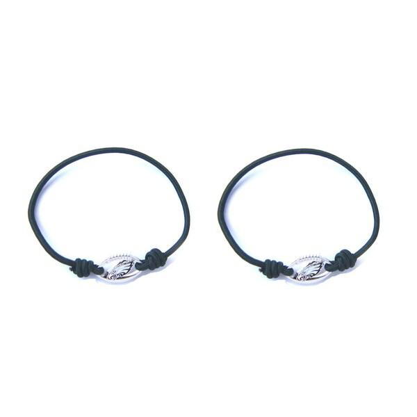 NFL Philadelphia Eagles Stretch Bracelet/Hair Tie Set