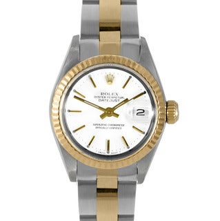 Pre-Owned Rolex Women's Two-Tone Datejust Watch with Gold Oyster Bracelet