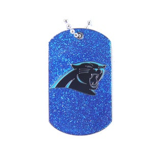 NFL Carolina Panthers Glitter Dog Tag