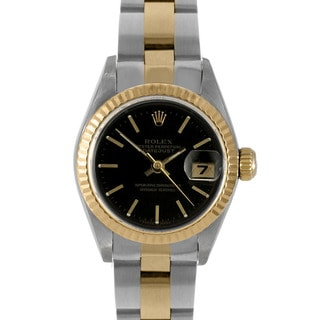 Pre-Owned Rolex Women's Two-Tone Datejust Watch with Fluted Bezel